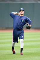 Cedar Rapids Kernels pitcher Dereck Rodriguez (31) during practice before the first game of a doubleheader against the Kane County Cougars on May 10, 2016 at Perfect Game Field in Cedar Rapids, Iowa.  Kane County defeated Cedar Rapids 2-0.  (Mike Janes/Four Seam Images)