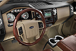 High angle dashboard view of a 2008 Ford F350 Crew Cab
