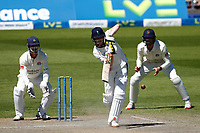 30th May 2021; Emirates Old Trafford, Manchester, Lancashire, England; County Championship Cricket, Lancashire versus Yorkshire, Day 4; Harry Brookof Yorkshire led his team's resistance on the fourth day as Yorkshire sought to gain a draw, faced with a 350 run deficit on the first innings