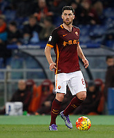 Calcio, Serie A: Roma vs Sampdoria. Roma, stadio Olimpico, 7 febbraio 2016.<br /> Roma's Ervin Zukanovic in action during the Italian Serie A football match between Roma and Sampdoria at Rome's Olympic stadium, 7 January 2016.<br /> UPDATE IMAGES PRESS/Riccardo De Luca