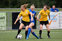 Katie Barrott of Capital compete for the ball with Hannah Mackay-Wright of Southern during the Handa Women's Premiership - Capital Football v Southern United at Petone Memorial Park, Wellington on Saturday 7 November 2020.<br /> Copyright photo: Masanori Udagawa /  www.photosport.nz