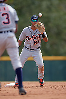 Detroit Tigers Anthony Pereira (68) during an Instructional League game against the Pittsburgh Pirates on October 6, 2017 at Pirate City in Bradenton, Florida.  (Mike Janes/Four Seam Images)