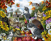 Lori, REALISTIC ANIMALS, REALISTISCHE TIERE, ANIMALES REALISTICOS, zeich, paintings+++++AutumnKitties,USLS122,#a#, EVERYDAY ,puzzle,puzzles