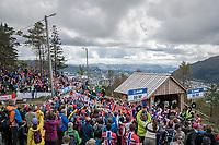 Andreas Vangstad (NOR/Sparebanken Sør) finishing on top of Mount Fløyen<br /> <br /> Men Elite Individual Time Trial<br /> <br /> UCI 2017 Road World Championships - Bergen/Norway