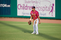 Pensacola Blue Wahoos outfielder Alex Kirilloff (19) during a Southern League game against the Mobile BayBears on July 25, 2019 at Blue Wahoos Stadium in Pensacola, Florida.  Pensacola defeated Mobile 2-1 in the first game of a doubleheader.  (Mike Janes/Four Seam Images)