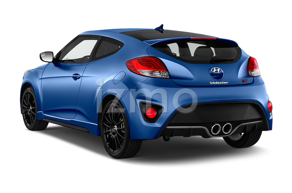 Car pictures of rear three quarter view of 2016 Hyundai Veloster 1.6 Turbo Rally Edition Manual 4 Door Hatchback Angular Rear