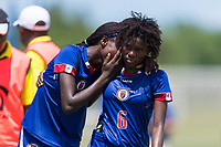 Bradenton, FL - Sunday, June 12, 2018: Haiti, Angeline Gustave prior to a U-17 Women's Championship 3rd place match between Canada and Haiti at IMG Academy. Canada defeated Haiti 2-1.