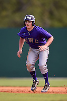 Kentucky Wesleyan Panthers third baseman Michael Hellmueller (27) during a game against Slippery Rock University on March 9, 2015 at Jack Russell Stadium in Clearwater, Florida.  Kentucky Wesleyan defeated Slippery Rock 5-4.  (Mike Janes/Four Seam Images)