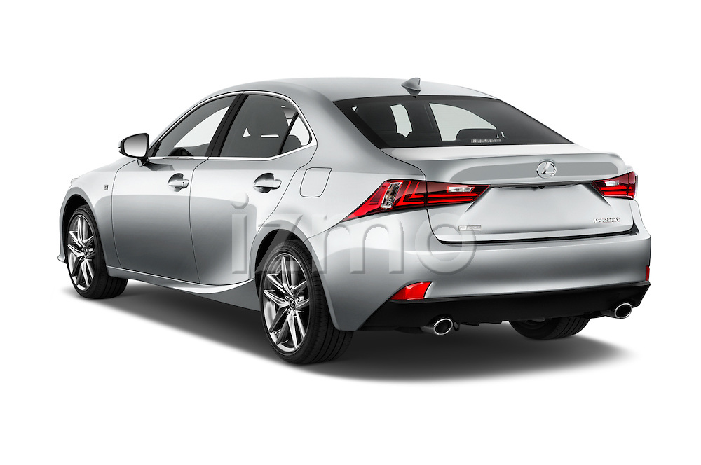 Car pictures of rear three quarter view of 2016 Lexus IS F Sport Line 4 Door Sedan Angular Rear