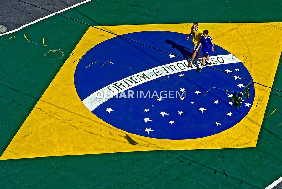 Decoração para a copa do mundo. São Paulo. 1994. Foto de Salomon Cytrynowicz