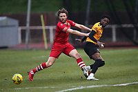 Remi Sutton of Hornchurch and Justin Amaluzor of Maidstone during Hornchurch vs Maidstone United, Buildbase FA Trophy Football at Hornchurch Stadium on 6th February 2021