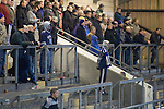 Chester City 1 Altrincham 3, 21/11/2009. Deva Stadium, Football Conference. Home supporters in the Harry McNally Stand watching their team in action at the Deva Stadium, Chester, home of Chester City Football Club, during the club's Blue Square Premier fixture against Cheshire rivals Altrincham. The visitors won by three goals to one. Chester were in administration at the start of the season and were penalised 25 points before the season began. Photo by Colin McPherson.