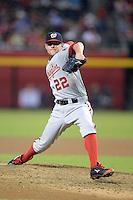 Washington Nationals pitcher Drew Storen (22) during a game against the Arizona Diamondbacks at Chase Field on September 28, 2013 in Phoenix, Arizona.  Washington defeated Arizona 2-0.  (Mike Janes/Four Seam Images)