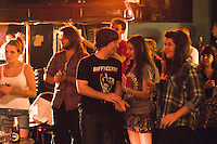 Appreciative audience.  Students on the 2yrs National Diploma in Music course put on an evening of bands at the Grey Horse pub, Kingston upon Thames.  They would have organised everything themselves: marketing, DJ-ing, production and performing.