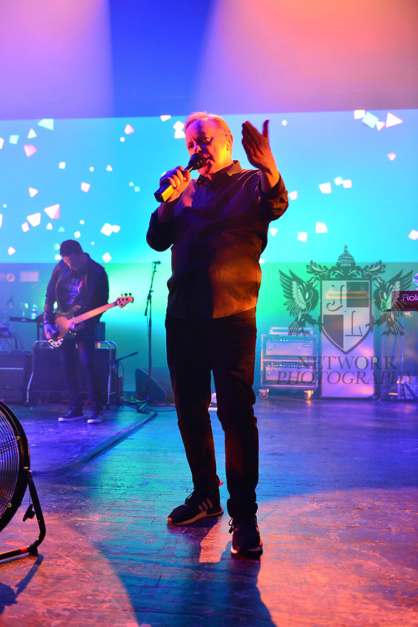 MIAMI BEACH, FLORIDA - JANUARY 18: Tom Chapman and Bernard Sumner of New Order perform on stage at the Fillmore Miami Beach at the Jackie Gleason Theater on January 18, 2020 in Miami Beach, Florida.  ( Photo by Johnny Louis / jlnphotography.com )
