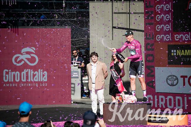 winner of the Maglia Ciclamino / points leader > Pascal Ackermann (DEU/BORA-hansgrohe)<br /> <br /> Stage 21 (ITT): Verona to Verona (17km)<br /> 102nd Giro d'Italia 2019<br /> <br /> ©kramon