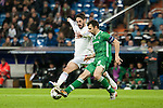 Isco of Real Madrid and Dyakov of Ludogorets during Champions League match between Real Madrid and Ludogorets at Santiago Bernabeu Stadium in Madrid, Spain. December 09, 2014. (ALTERPHOTOS/Luis Fernandez)