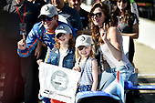 Verizon IndyCar Series<br /> Indianapolis 500 Qualifying<br /> Indianapolis Motor Speedway, Indianapolis, IN USA<br /> Saturday 20 May 2017<br /> Scott Dixon, Chip Ganassi Racing Teams Honda with the Verizon P1 Pole Award flag, daughters Poppy and Tilly, wife Emma, and team.<br /> World Copyright: Scott R LePage<br /> LAT Images<br /> ref: Digital Image lepage-170521-indy-4977