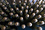 Sparkling wine ready to be opened at Mumm