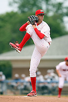 July 9th, 2007:  Clayton Mortensen of the Batavia Muckdogs, Short-Season Class-A affiliate of the St. Louis Cardinals at Dwyer Stadium in Batavia, NY.  Photo by:  Mike Janes/Four Seam Images