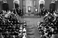 ARCHIVE - <br /> Le Gouverneur general du Canada Roland Michener  lors de l'ouverture de la session de l'Assemblee Nationale, le 20 fevrier 1968<br /> , a Quebec.<br /> <br /> PHOTO :  AQP -  Photo Moderne