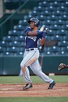 Joshua Mears (48), of the AZL Padres 1, at bat during an Arizona League game against the AZL Angels on August 5, 2019 at Tempe Diablo Stadium in Tempe, Arizona. AZL Padres 1 defeated the AZL Angels 5-0. (Zachary Lucy/Four Seam Images)