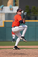 Virginia Cavaliers starting pitcher Andrew Abbott (16) in action against the Virginia Tech Hokies during the 2021 ACC Baseball Championship at Truist Field on May 25, 2021 in Charlotte, NC. (Andy Mead/Four Seam Images)