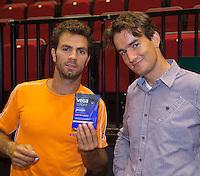 11-sept.-2013,Netherlands, Groningen,  Martini Plaza, Tennis, DavisCup Netherlands-Austria, Open training<br /> Photo: Henk Koster