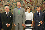 Spanish Royals King Felipe VI of Spain and Queen Letizia of Spain during a Royal meeting with Adecco General Council at Zarzuela Palace in Madrid, Spain. September 02, 2015. (ALTERPHOTOS/Victor Blanco)