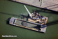 aerial photograph above dredging Port of Oakland California