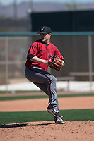 Arizona Diamondbacks relief pitcher Gabe Speier (15) prepares to deliver a pitch during a Minor League Spring Training intrasquad game at Salt River Fields at Talking Stick on March 12, 2018 in Scottsdale, Arizona. (Zachary Lucy/Four Seam Images)