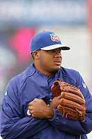 May 9, 2010: Kenley Jansen of the Inland Empire 66'ers during game against the Lancaster JetHawks at Clear Channel Stadium in Lancaster,CA.  Photo by Larry Goren/Four Seam Images