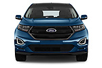 Car photography straight front view of a 2018 Ford Edge Sport 5 Door SUV