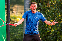 Hilversum, The Netherlands,  August 20, 2021,  Tulip Tennis Center, NKS, National Senior Tennis Championships, Men's single 45+, Joris Kleinloog (NED)<br /> Photo: Tennisimages/Henk Koster