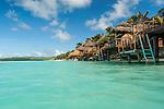 Overwater bungalows at Aitutaki Lagoon Resort & Spa on Aitutaki, Cook Islands