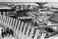 1967 FILE PHOTO - ARCHIVES -<br /> <br /> Man and his world still possesses the architectural axcitement which made Expo a hit during Canada's Centennial. The nice thing about this Montreal showplace; according to Littler; is that it offers much more than one day of viewing. For the first time this summer; Man and His World has dropped its $2.50 admission charge to the grounds. You get in free but must pay to see some of the major pavilions. The U.S. geodesic dome; a landmark pavilion; charges $1.<br /> <br /> 1967<br /> <br /> PHOTO : Boris Spremo - Toronto Star Archives - AQP