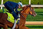 LOUISVILLE, KY - APRIL 28: Good Magic, trained by Chad Brown, exercises in preparation for the Kentucky Derby at Churchill Downs on April 28, 2018 in Louisville, Kentucky. (Photo by Scott Serio/Eclipse Sportswire/Getty Images)