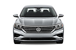 Car photography straight front view of a 2020 Volkswagen Passat SE 4 Door Sedan Front View