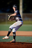 Dylan Eskew during the WWBA World Championship at the Roger Dean Complex on October 20, 2018 in Jupiter, Florida.  Dylan Eskew is a right handed pitcher from Tampa, Florida who attends Sickles High School and is committed to Miami.  (Mike Janes/Four Seam Images)