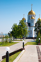 St George The Victorous church on Square of Fame near the Volga bank in Samara
