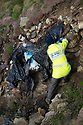 19/01/19<br /> <br /> Plastic embedded on the cliff face.<br /> <br /> Volunteers clean beaches near Cable Bay Anglesey to mark the RSPCA's 'PlastOff2019'<br /> <br /> All Rights Reserved, F Stop Press Ltd +44 (0)7765 242650  www.fstoppress.com rod@fstoppress.com