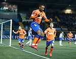 23.01.2019 Kilmarnock v Rangers: Jermain Defoe celebrates the opening goal for Rangers
