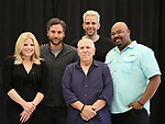 "Megan Hilty, Josh Radnor, Lee Wilkof, Nick Cordero and James Monroe Iglehart In Rehearsal for the Kennedy Center production of ""Little Shop of Horrors"" on October 11 2018 at Ballet Hispanica in New York City."