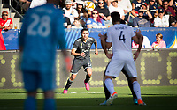 CARSON, CA - SEPTEMBER 29: Erik Godoy #22 of the Vancouver Whitecaps looks for an open man during a game between Vancouver Whitecaps and Los Angeles Galaxy at Dignity Health Sports Park on September 29, 2019 in Carson, California.