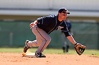 February 26, 2010:  Second Baseman Dain Hall of the Villanova Wildcats during the Big East/Big 10 Challenge at Raymond Naimoli Complex in St. Petersburg, FL.  Photo By Mike Janes/Four Seam Images