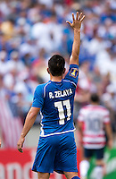 Rodolfo Zelaya.  The United States defeated El Salvador, 5-1, during the quarterfinals of the CONCACAF Gold Cup at M&T Bank Stadium in Baltimore, MD.