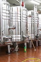 tanks with cooling coils dom m picard chateau de ch-m chassagne-montrachet cote de beaune burgundy france