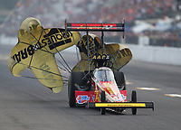 Sep 28, 2019; Madison, IL, USA; NHRA top fuel driver Brittany Force during qualifying for the Midwest Nationals at World Wide Technology Raceway. Mandatory Credit: Mark J. Rebilas-USA TODAY Sports
