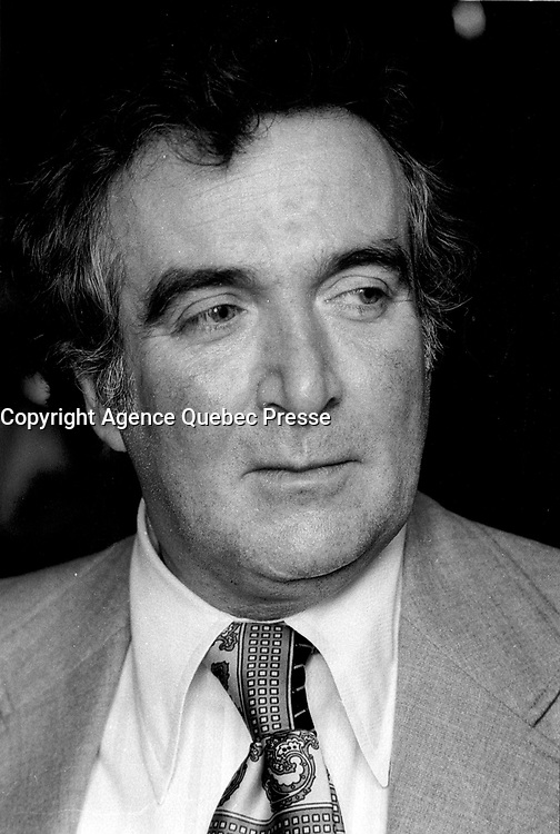 Undated File Photo - Montreal, Quebec, Canada - Marcel Dube in the seventies
