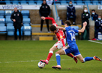 Rob McKenzie of Gillingham fouls Charlton's Paul Smyth during Gillingham vs Charlton Athletic, Sky Bet EFL League 1 Football at the MEMS Priestfield Stadium on 21st November 2020